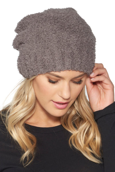 Barefoot Dreams Classic Slouch Beanie Charcoal