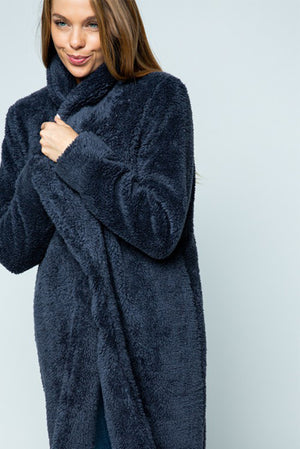 The Cutest Teddy Bear Coat Ever Navy