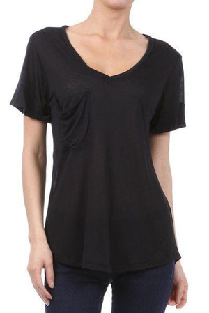 Freeloader Boyfriend Short Sleeve Top with Pocket
