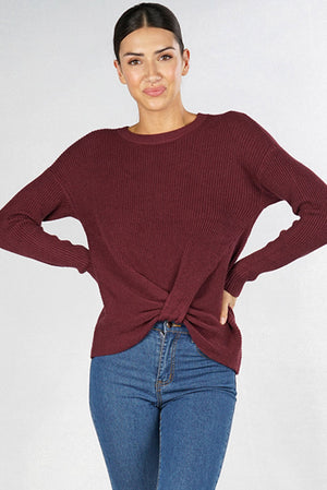 Thermal Knot Front Shirt