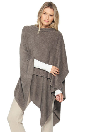 Barefoot Dreams CozyChic Lite Weekend Wrap Cocoa