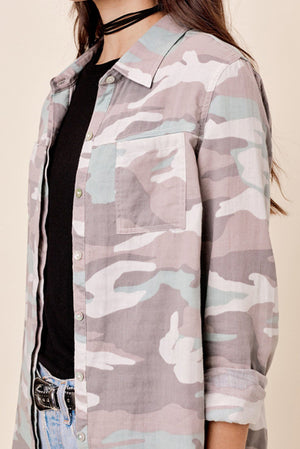 Camo Button Down