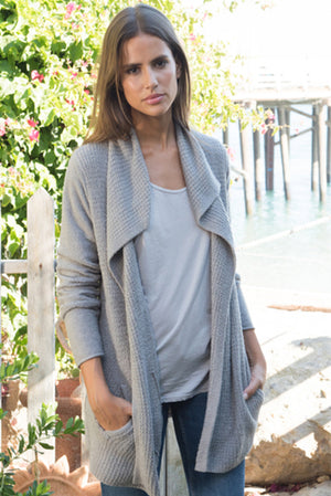 Barefoot Dreams Coastal Cardigan Pewter
