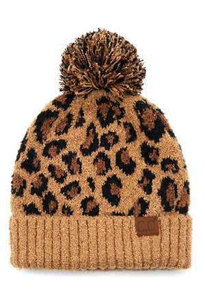 Animal Print Slouchy Toque