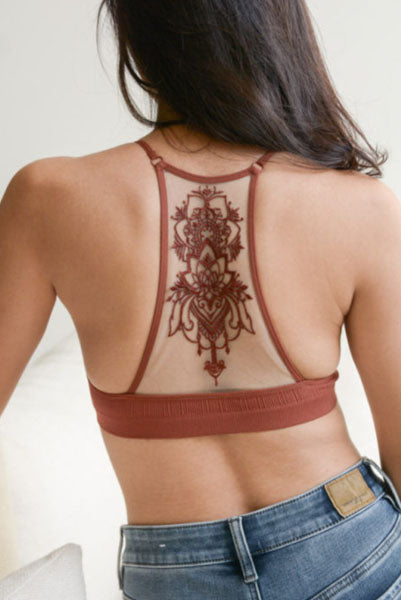 Tattoo Bralette Rust