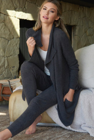 Barefoot Dreams Coastal Cardigan Carbon