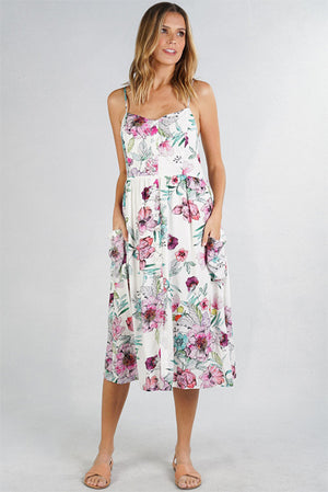 Lilia Watercolor Summer Dress