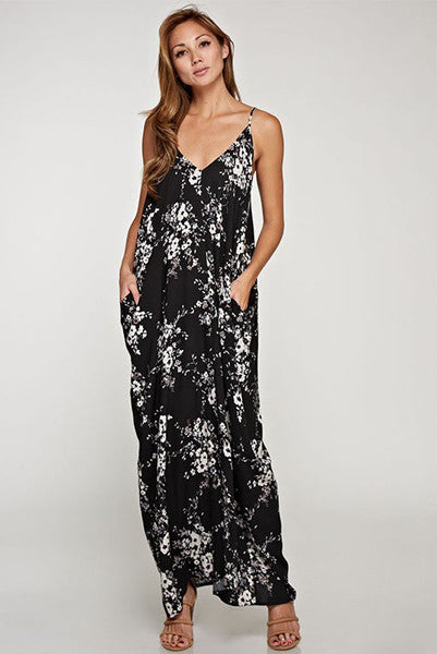 Love Stitch Floral Maxi Dress