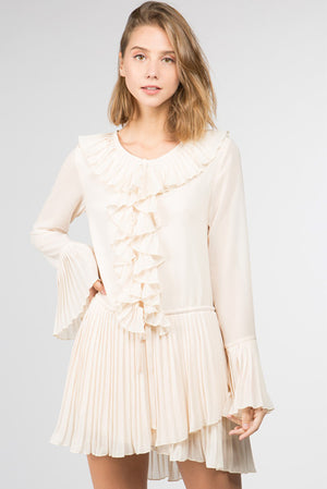 Kate Flounce Sleeve Ruffle Dress