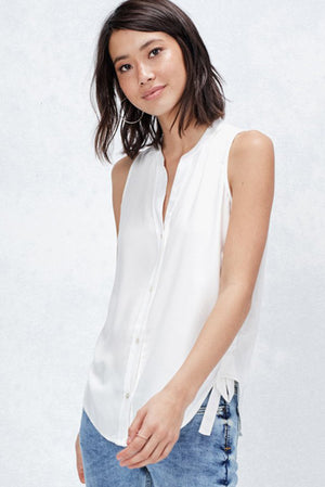 Gorgeous White Tank Blouse