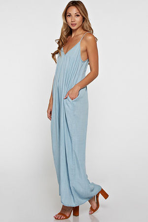 Love Stitch Denim Maxi