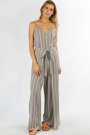 Natasha Striped Jumpsuit