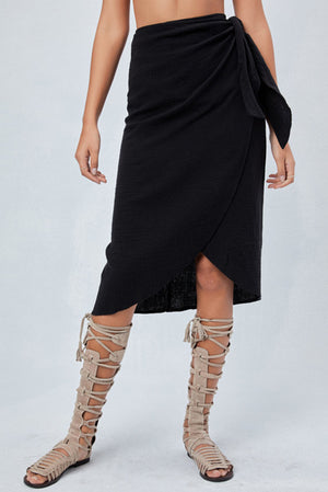 Fully Lined Wrap Skirt
