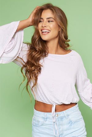 Bell Sleeve Crop 2 Colours Available