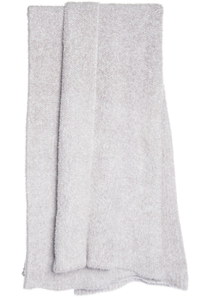 Barefoot Dreams Heathered CozyChic Throw Dove Grey White