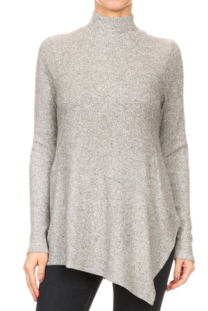 Freeloader Mock Neck Sweater (Adorable)