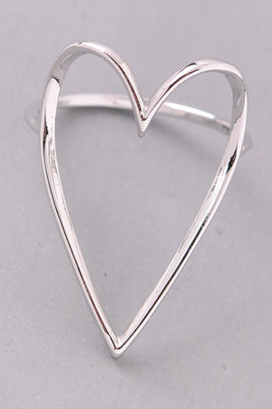 Jada Hollow Heart Ring