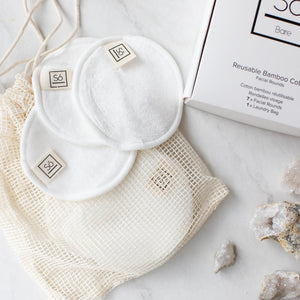 So Luxury Reusable Cotton Facial Rounds w/ Laundry Bag