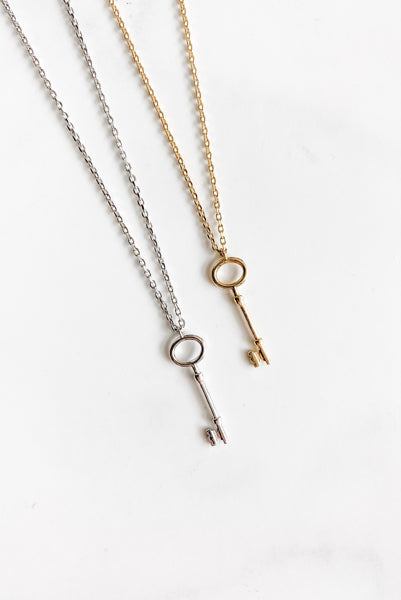 Dainty Vintage Key Necklace