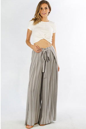 Pretty Stripe Wrap Pant