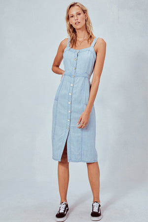 Celine Button Up Denim Dress