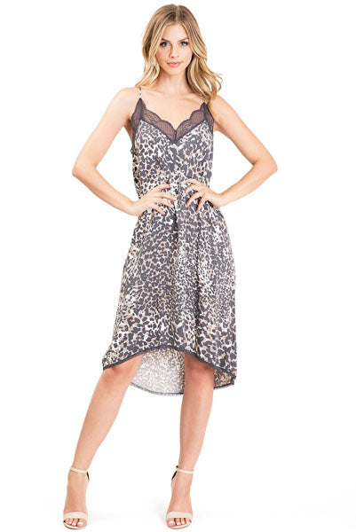 Natasha Animal Print Slip Dress