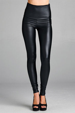 The Best Tummy Control Pleather Leggings