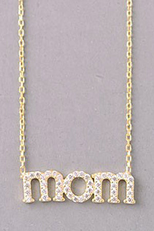 Sterling Silver Mom Necklace