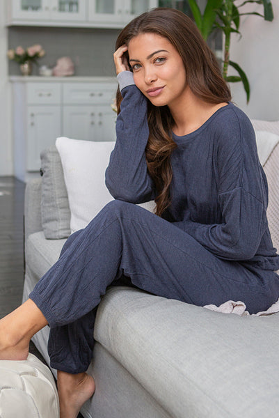 Barefoot Dreams Crinkle Set Indigo