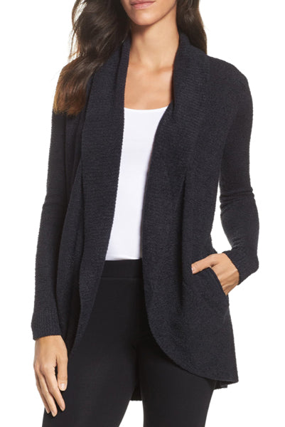 Barefoot Dreams CozyChic Lite Circle Cardi Black