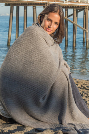 Barefoot Dreams Pewter Lite Ribbed Throw