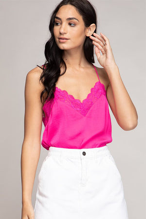 Silky Lace Cami