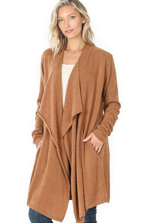 Draped Open Super Soft Cardigan