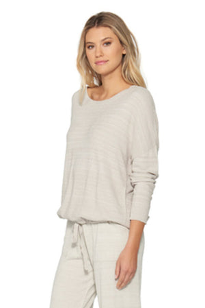 Barefoot Dreams CozyChic Lite Slouchy Pullover Fog Grey