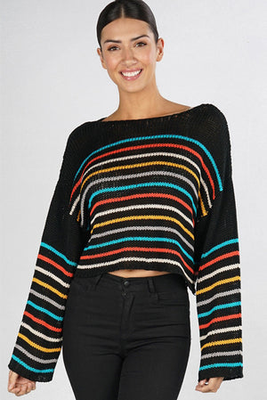Rainbow Stripes Sweater