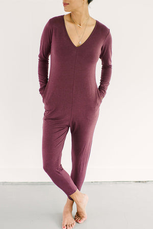 Smash & Tess Friday Romper Maroon