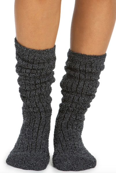 Barefoot Dreams Cozy Ribbed Socks Black