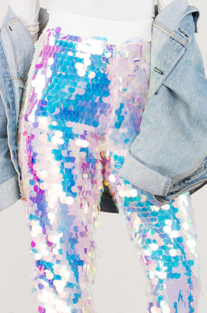 Mermaid Sequin Hologram Pants