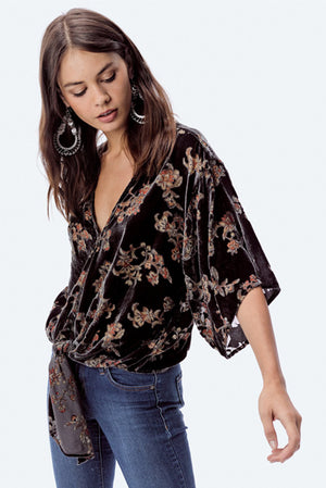 Burnout Velvet Boho Top