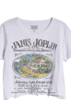 Janis Joplin Distressed Crop