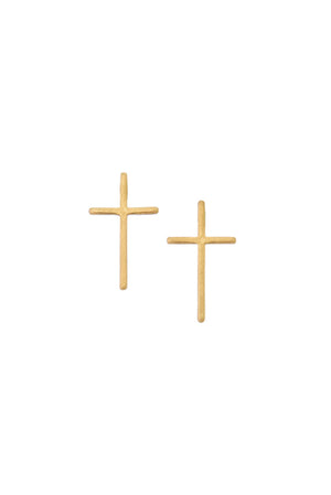 The Perfect Size Cross Studs