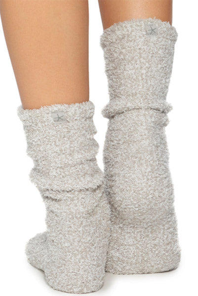 Barefoot Dreams Cozy Socks Oyster/White