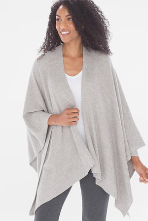 Barefoot Dreams Heathered Grey Weekend Wrap