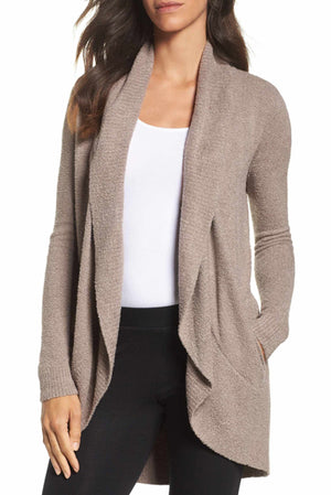 The Famous Barefoot Dreams CozyChic Lite Circle Cardi Taupe
