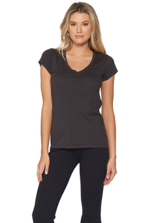 Barefoot Dreams Black PERFECT V-Neck