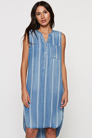 Love Stitch Tencel Tunic Dress