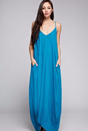 Bora Bora Blue Cocoon Maxi Dress