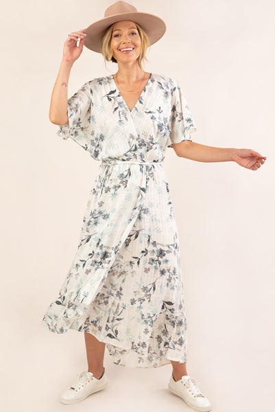 Watercolour Floral Jacquard Dress