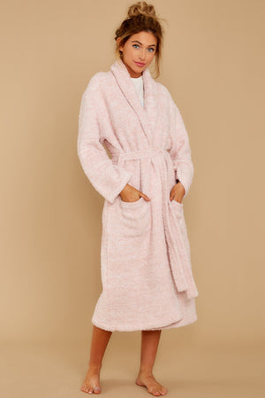 Barefoot Dreams Touch of Pink Robe