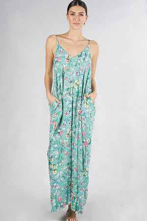 Embroidered Cocoon Maxi Dress